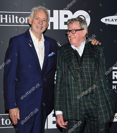 Phil Manzanera, Andy Mackay. Phil Manzanera, left, and Andy Mackay, of Roxy Music, arrive at the Rock & Roll Hall of Fame induction ceremony at the Barclays Center, in New York