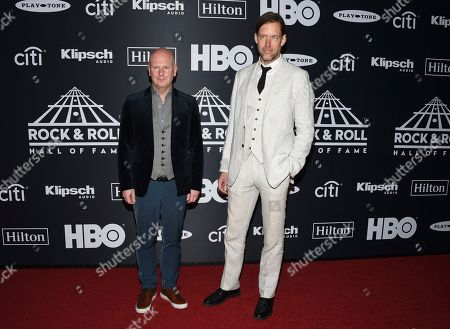 Philip Selway, Ed O'Brien. Philip Selway, left, and Ed O'Brien, of Radiohead, arrive at the Rock & Roll Hall of Fame induction ceremony at the Barclays Center, in New York