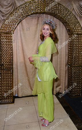 Alisha Cowie at a BTM Global UK charity dinner, celebrating Mothers Day and raising money for the Al-Mudassar Trust