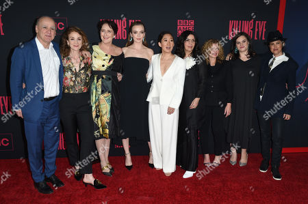 David Madden, Sally Woodward Gentle, Fiona Shaw, Jodie Comer, Sandra Oh, Sarah Barnett, Gina Mingacci, Courtney Thomasma and Francesca Gregorini