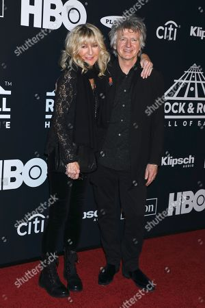 Stock Picture of Christine McVie and Neil Finn