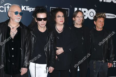 Reeves Gabrels, Simon Gallup, Robert Smith, Roger O'Donnell and Jason Cooper of The Cure
