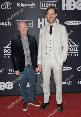 Philip Selway and Ed O'Brien of Radiohead
