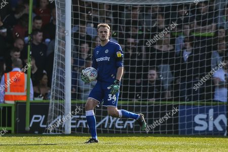 Forest Green Rovers goalkeeper Lewis Ward(34) during the EFL Sky Bet League 2 match between Forest Green Rovers and Milton Keynes Dons at the New Lawn, Forest Green