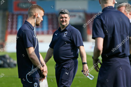 Simon Bassey First Team Coach during the EFL Sky Bet League 1 match between Scunthorpe United and AFC Wimbledon at Glanford Park, Scunthorpe
