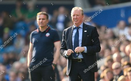 Steve McClaren manager of QPR and Phil Parkinson manger of Bolton Wanderers