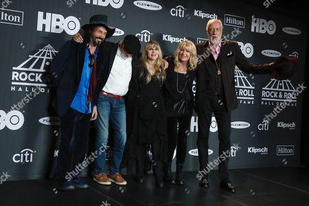 Mike Campbell, John McVie, Stevie Nicks, Christine McVie and Mick Fleetwood, Fleetwood Mac