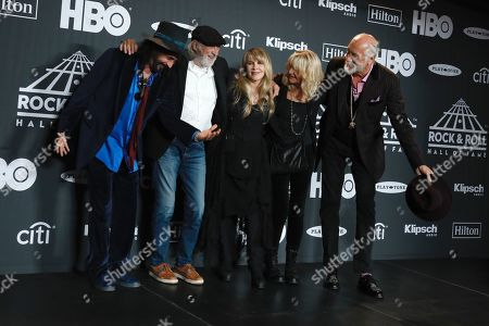 Stock Picture of Mike Campbell, John McVie, Stevie Nicks, Christine McVie and Mick Fleetwood, Fleetwood Mac