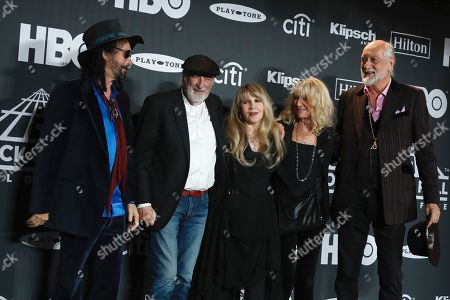 Stock Image of Mike Campbell, John McVie, Stevie Nicks, Christine McVie and Mick Fleetwood, Fleetwood Mac