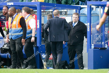 Stock Picture of Steve McClaren - Manager of QPR  heads down the tunnel as soon as the final whistle is blown after defeat to Bolton