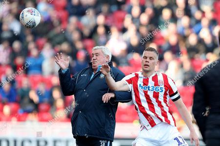 Sheffield Wednesday manager Steve Bruce and Ryan Shawcross of Stoke City
