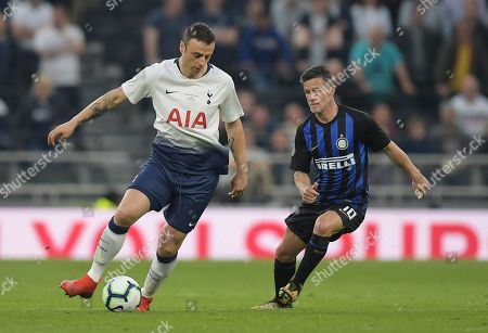 Stock Photo of Dimitar Berbatov of Spurs Legends and Benito Carbone of Inter Forever
