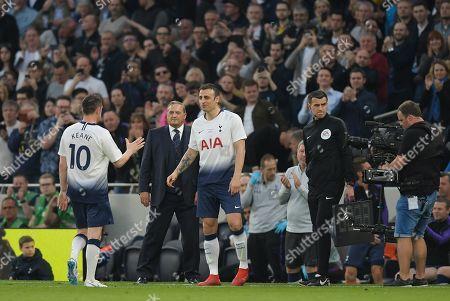 Dimitar Berbatov of Spurs Legends replaces Robbie Keane of Spurs Legends