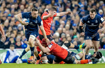 Stock Picture of Leinster vs Ulster. Leinster's Jack Conan with Eric O'Sullivan of Ulster