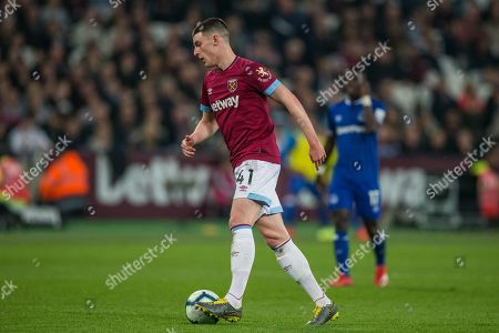 Declan Rice (West Ham) during the Premier League match between West Ham United and Everton at the London Stadium, London
