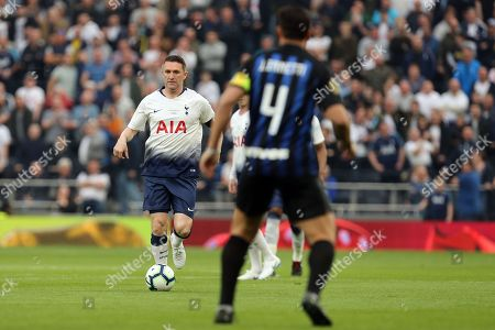 Robbie Keane of Spurs Legends and Javier Zanetti of Inter Forever during Spurs Legends vs Inter Forever, Test Event Match Two Football at Tottenham Hotspur Stadium on 30th March 2019