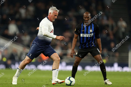 Nicola Ventola of Inter Forever and David Ginola of Spurs Legends during Spurs Legends vs Inter Forever, Test Event Match Two Football at Tottenham Hotspur Stadium on 30th March 2019