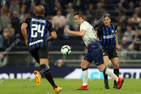 Dimitar Berbatov of Spurs Legends and Mikael Silvestre of Inter Forever during Spurs Legends vs Inter Forever, Test Event Match Two Football at Tottenham Hotspur Stadium on 30th March 2019
