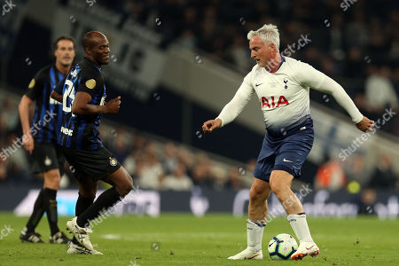 David Ginola of Spurs Legends and David Suazo of Inter Forever during Spurs Legends vs Inter Forever, Test Event Match Two Football at Tottenham Hotspur Stadium on 30th March 2019