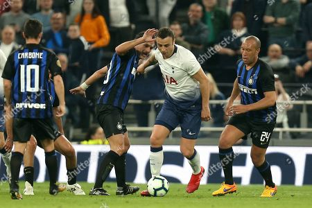 Dimitar Berbatov of Spurs Legends takes on Inter Forever during Spurs Legends vs Inter Forever, Test Event Match Two Football at Tottenham Hotspur Stadium on 30th March 2019
