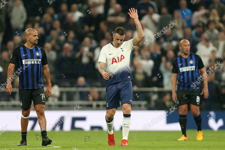 Dimitar Berbatov of Spurs Legends celebrates scoring the fourth goal during Spurs Legends vs Inter Forever, Test Event Match Two Football at Tottenham Hotspur Stadium on 30th March 2019