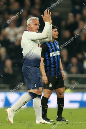 David Ginola of Spurs Legends during Spurs Legends vs Inter Forever, Test Event Match Two Football at Tottenham Hotspur Stadium on 30th March 2019