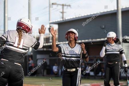 Editorial photo of New Mexico State U Softball, Seattle, USA - 29 Mar 2019