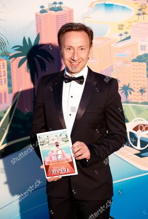 French TV host Stephane Bern arrives for the 'Bal de la Rose' (Rose Ball), in Monaco, 30 March 2019. The Rose Ball is a traditional annual charity event in the Principality of Monaco. This year the theme is 'Riviera', designed by late German Karl Lagerfeld and Princess Caroline of Hanover.