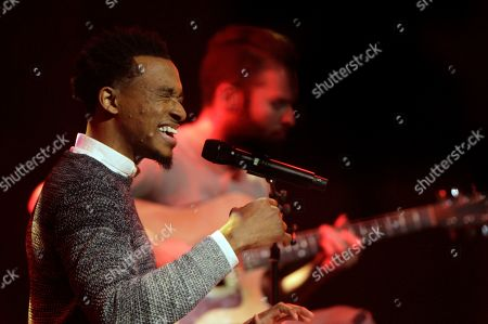 """Jonathan McReynolds performs at the 47th Annual GMA Dove Awards at Lipscomb University in Nashville, Tenn. McReynolds was the top winner at the Stellar Gospel Music Awards, taking home six trophies during a ceremony that also included a posthumous tribute to the Queen of Soul, Aretha Franklin. Thanks to his album """"Make Room,"""" Chicago gospel artist McReynolds was crowned artist of the year and his song """"Not Lucky"""" was named song of the year. He also took home honors for contemporary male vocalist, contemporary CD and producer of the year"""