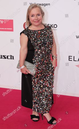 Christine Urspruch arrives for the 54th annual 'Goldene Kamera' (Golden Camera) film and television awards ceremony in Berlin, Germany, 30 March 2019.