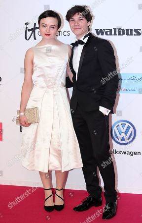 Stock Photo of Sebastian Urzendowsky and his sister Lena Urzendowsky arrive for the 54rd annual 'Goldene Kamera' (Golden Camera) film and television awards ceremony in Berlin, Germany, 30 March 2019.