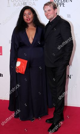 Devid Striesow and partner Ines Ganzberger arrive for the 54th annual 'Goldene Kamera' (Golden Camera) film and television award ceremony in Berlin, Germany, 30 March 2019.