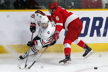 John Picking, Alex Green. Northeastern's John Picking (7) and Cornell's Alex Green (6) battle for the puck during the first period of an NCAA Division I East Regional semifinal men's hockey game in Providence, R.I