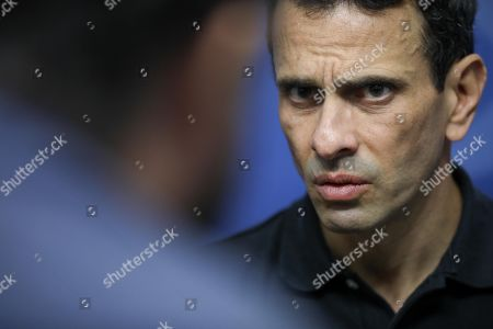 Two-time Venezuelan opposition presidential candidate Henrique Capriles speaks during an interview in Caracas, Venezuela, 30 March 2019. Capriles, one of the most important political figures in the country, believes that time does not play against Juan Guaido, recognized as President in charge by more than fifty nations, but against Venezuela.