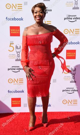 Joy Reid arrives at the 50th annual NAACP Image Awards, at the Dolby Theatre in Los Angeles