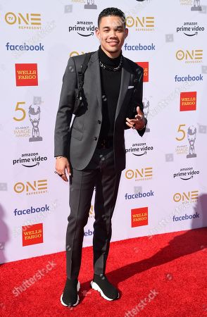 Roshon Fegan arrives at the 50th annual NAACP Image Awards, at the Dolby Theatre in Los Angeles