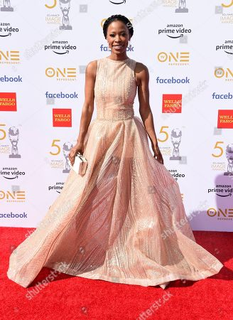 Karimah Westbrook arrives at the 50th annual NAACP Image Awards, at the Dolby Theatre in Los Angeles