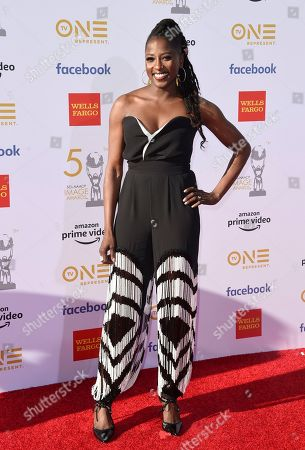 Rutina Wesley arrives at the 50th annual NAACP Image Awards, at the Dolby Theatre in Los Angeles