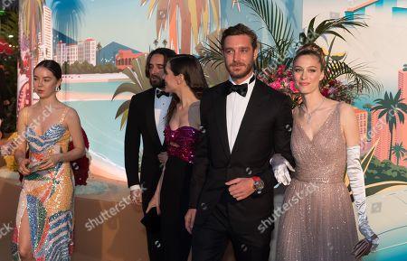 Princess Alexandra of Hanover, Dimitri Rassam, Charlotte Casiraghi, Pierre Casiraghi and Beatrice Borromeo