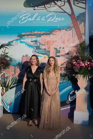 Carole Bouquet and Charlotte Giacobetti