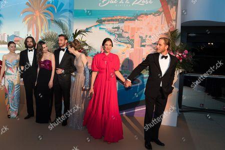 Princess Alexandra of Hanover, Dimitri Rassam, Charlotte Casiraghi, Pierre Casiraghi, Beatrice Borromeo, Tatiana Santo Domingo and Andrea Casiraghi