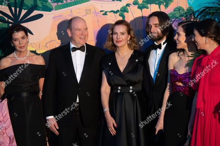 Princess Caroline of Hanover, Prince Albert II of Monaco, Carole Bouquet, Dimitri Rassam, Charlotte Casiraghi, Tatiana Santo Domingo