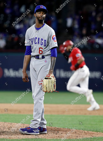 Carl Edwards Jr., Joey Gallo. Chicago Cubs' Carl Edwards Jr. looks to the plate as Texas Rangers' Joey Gallo rounds the bases on his three-run home run off of Edwards during the eighth inning of a baseball game in Arlington, Texas, . The Rangers won 8-6