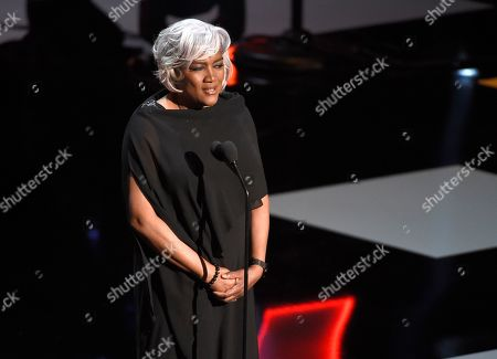 Donna Brazile presents the vanguard award at the 50th annual NAACP Image Awards, at the Dolby Theatre in Los Angeles