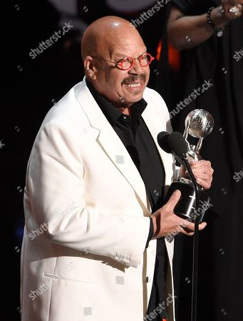 Tom Joyner accepts the Vanguard award at the 50th annual NAACP Image Awards, at the Dolby Theatre in Los Angeles