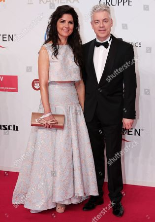 Michael Mittermeier and partner Gudrun arrive for the 54th annual 'Goldene Kamera' (Golden Camera) film and television award ceremony in Berlin, Germany, 30 March 2019.