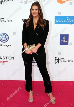 German television presenter Laura Wontorra arrives for the 54th annual 'Goldene Kamera' (Golden Camera) film and television award ceremony in Berlin, Germany, 30 March 2019.