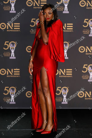 Tai Beauchamp poses during the 50th NAACP Image Awards at the Dolby Theatre in Hollywood, California, USA, 30 March 2019. The NAACP Image awards honor excellence in television, recording and motion picture categories.