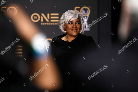 US political strategist Donna Brazile poses during the 50th NAACP Image Awards at the Dolby Theatre in Hollywood, California, USA, 30 March 2019. The NAACP Image awards honor excellence in television, recording and motion picture categories.