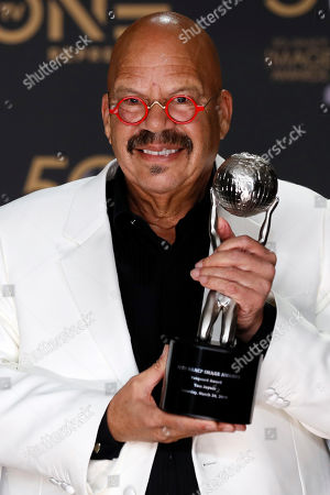 Chairman's Award, and radio personality Tom Joyner, who received the Vanguard Award poses during the 50th NAACP Image Awards at the Dolby Theatre in Hollywood, California, USA, 30 March 2019. The NAACP Image awards honor excellence in television, recording and motion picture categories.